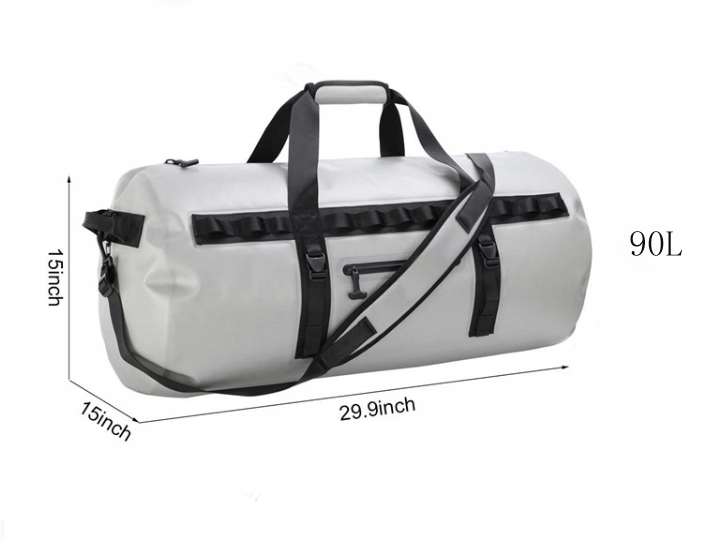 Prosperity dry pack bag with innovative transparent window design for rafting