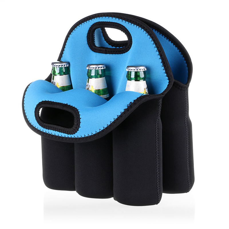 6 Pack Bottle Cooler Bag Insulated Neoprene Can Holder For Travel
