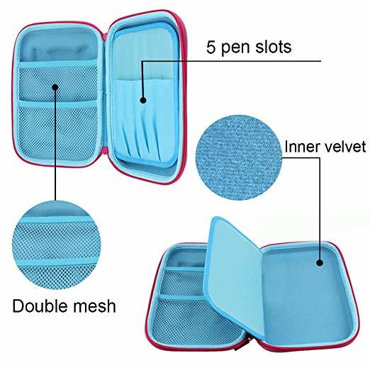 portable eva protective case with strap for pens
