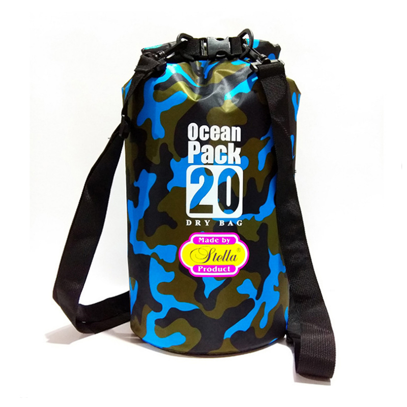Lightweight Camouflage PVC Waterproof Dry Bag with Strap for Outdoor