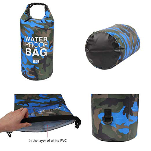 sport drybag with adjustable shoulder strap for fishing