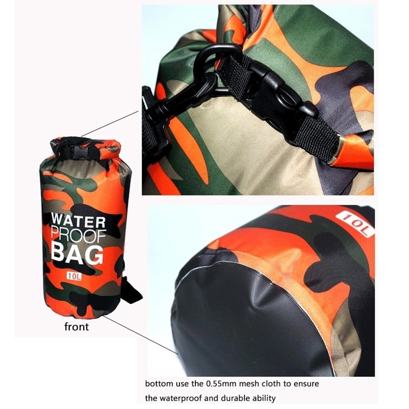 Prosperity dry bag with strap with innovative transparent window design open water swim buoy flotation device-9