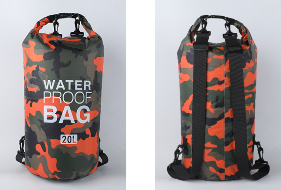Prosperity dry bag with strap with innovative transparent window design open water swim buoy flotation device-11