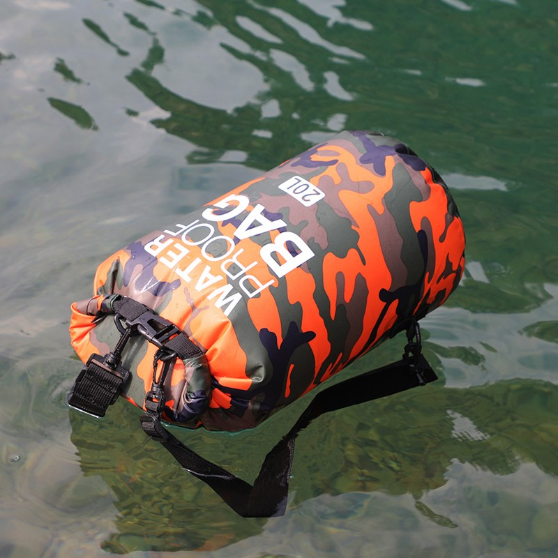 Prosperity dry bag with strap with innovative transparent window design open water swim buoy flotation device-13