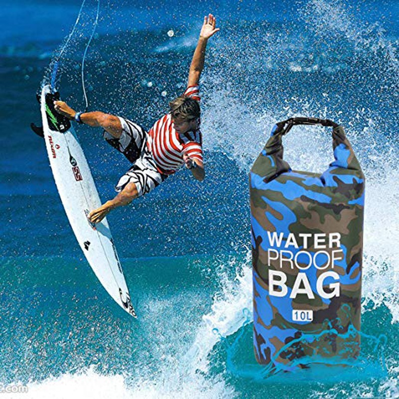 Prosperity dry bag with strap with innovative transparent window design open water swim buoy flotation device-14