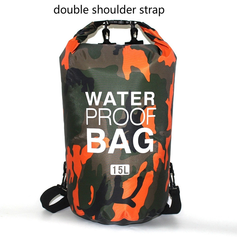 floating dry bag with adjustable shoulder strap for kayaking