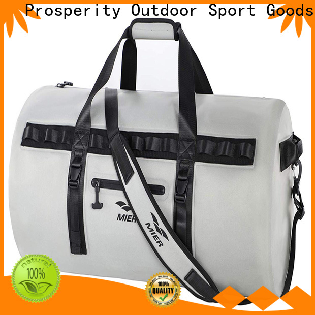sport dry bag with strap distributor for kayaking