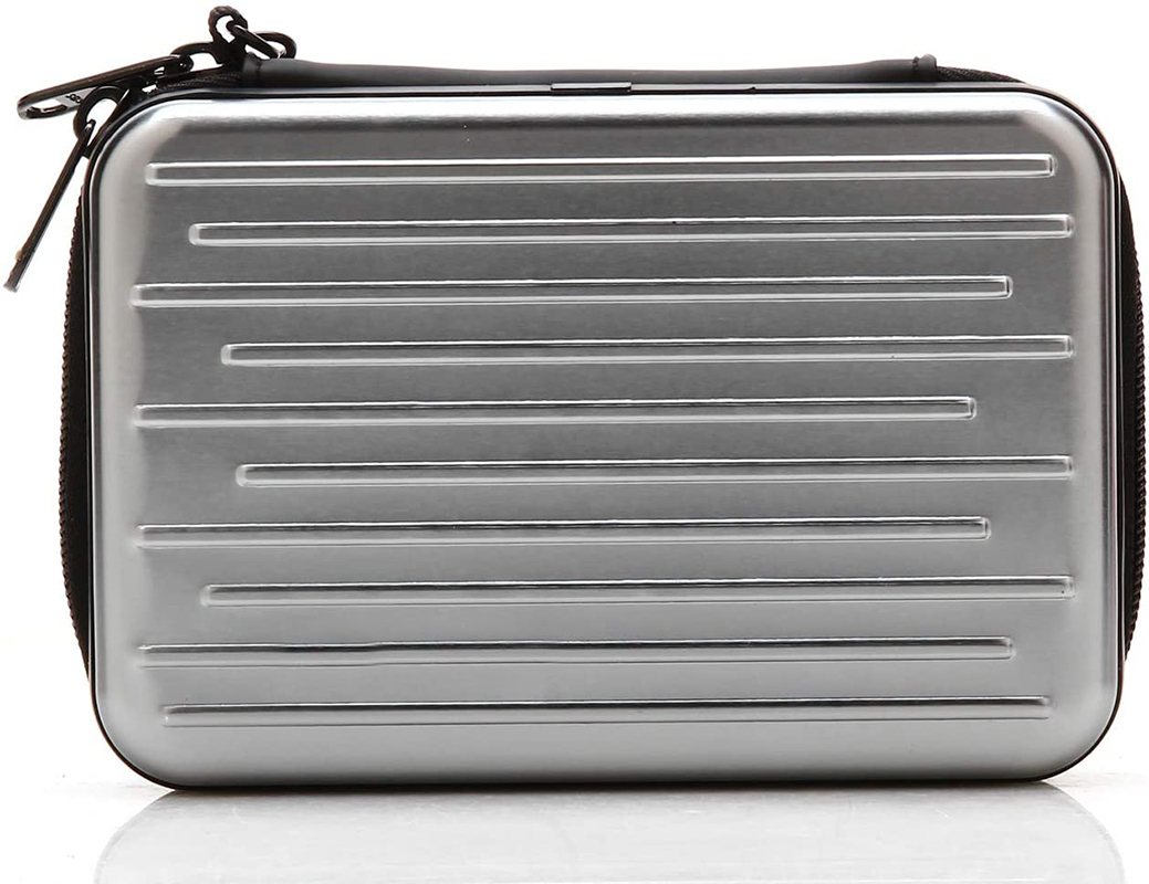 High Quality Anti-Shock Silver Aluminium Carry Travel Protective Storage Case Bag for 2.5 Inch Portable External Hard Drive HDD Wholesale-Prosperity