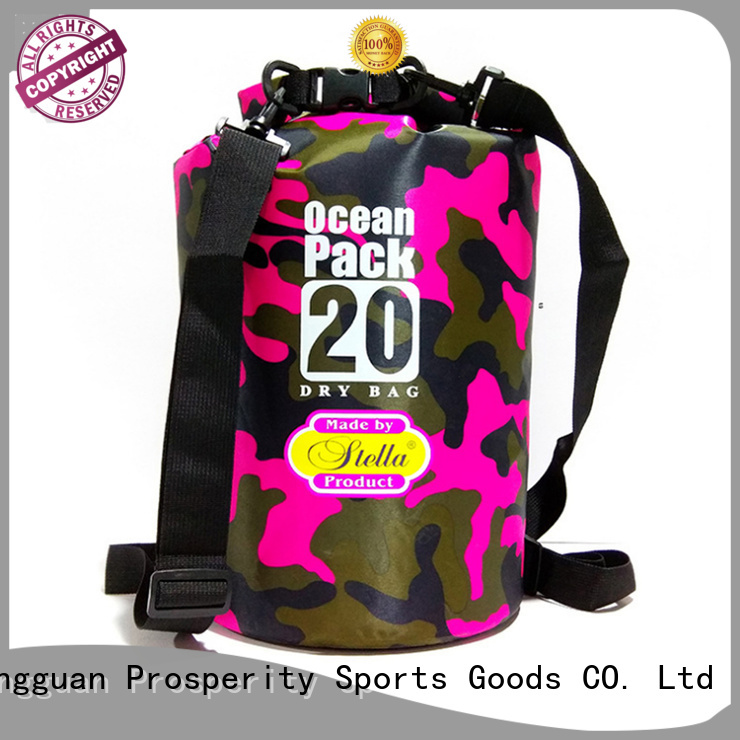 Prosperity drybag with adjustable shoulder strap open water swim buoy flotation device