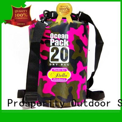 Prosperity outdoor go outdoors dry bag with adjustable shoulder strap for fishing