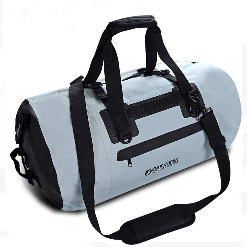 heavy duty dry bag with strap with innovative transparent window design for boating-1