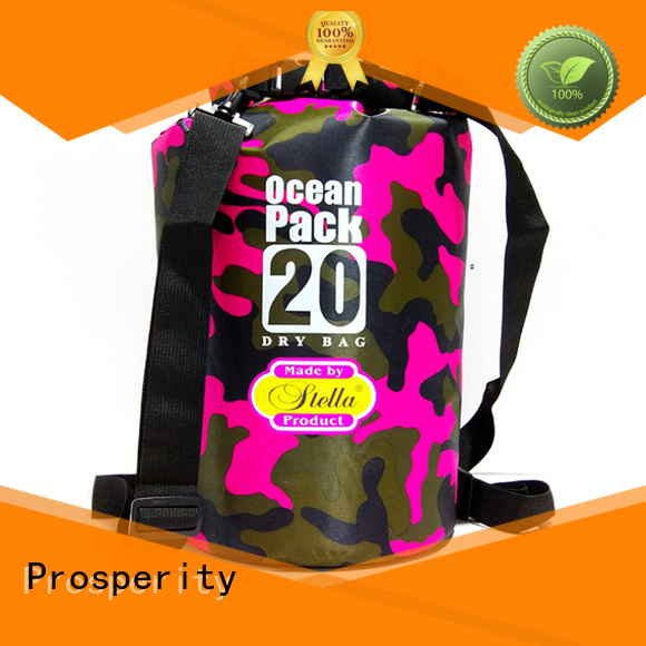 Prosperity outdoor dry pack with adjustable shoulder strap for boating