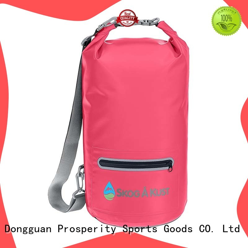 Prosperity dry bag backpack with adjustable shoulder strap for fishing