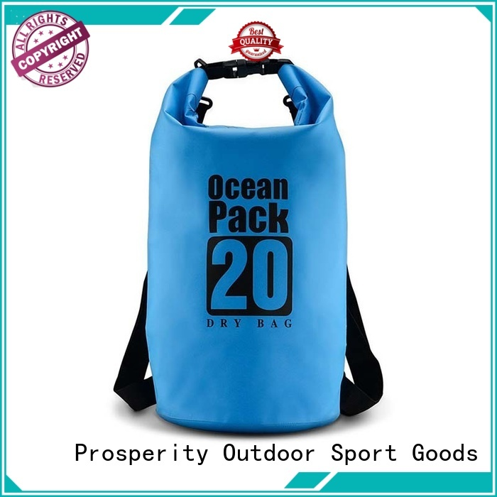 sport drybag with innovative transparent window design for boating