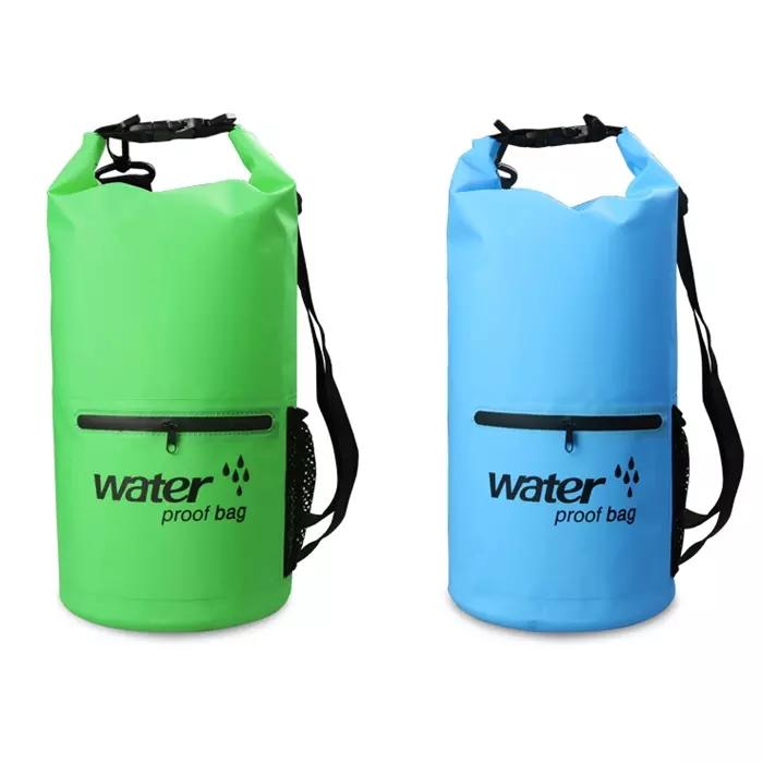 Prosperity dry bag backpack with innovative transparent window design for kayaking-2
