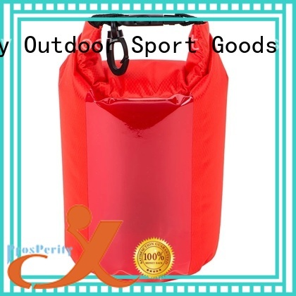 Prosperity outdoor Waterproof dry bag with innovative transparent window design for kayaking
