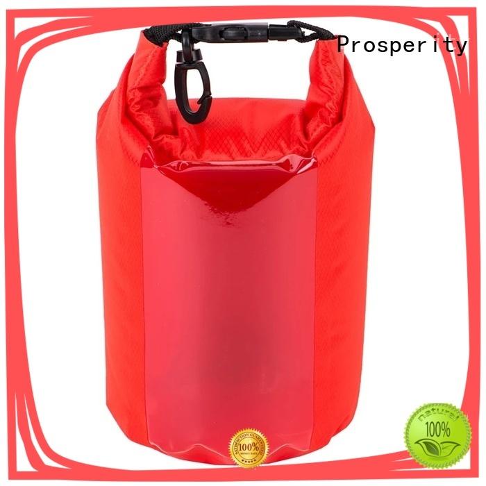 Prosperity dry bag backpack with adjustable shoulder strap for rafting