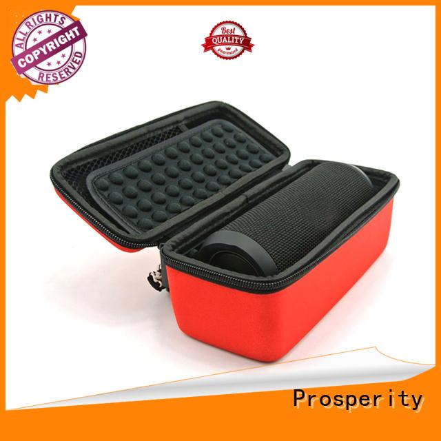 Portable eva hard shockproof speaker case  with strap