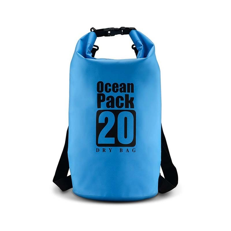Outdoor waterproof sport dry bag with adjustable shoulder strap