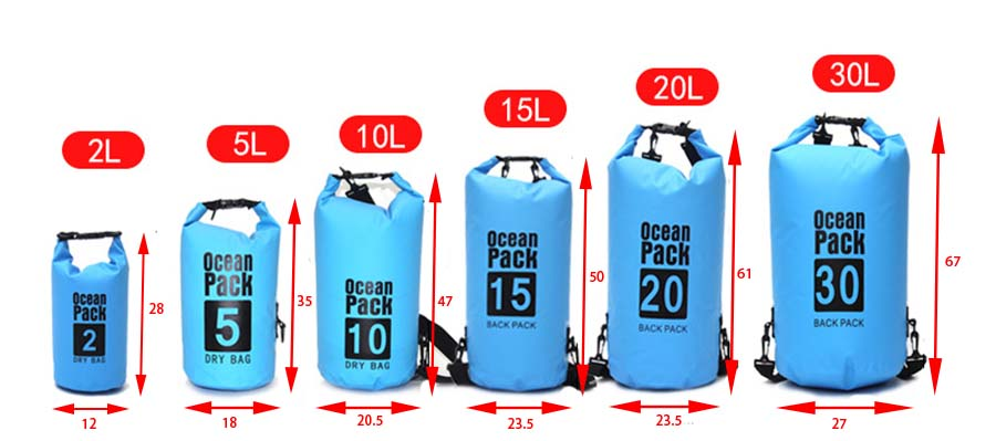 Prosperity heavy duty dry bag sizes with adjustable shoulder strap for fishing-7