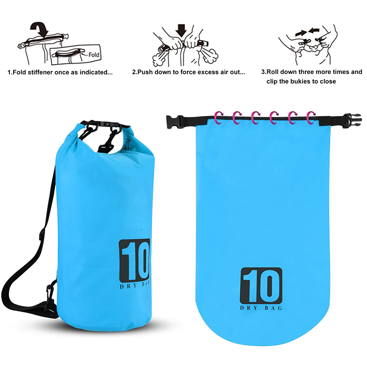 light Waterproof dry bag with adjustable shoulder strap for kayaking-10