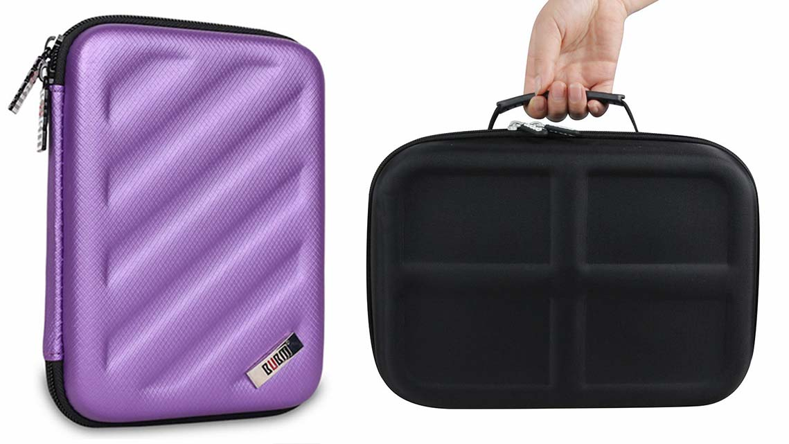black eva hard case speaker case for switch-5