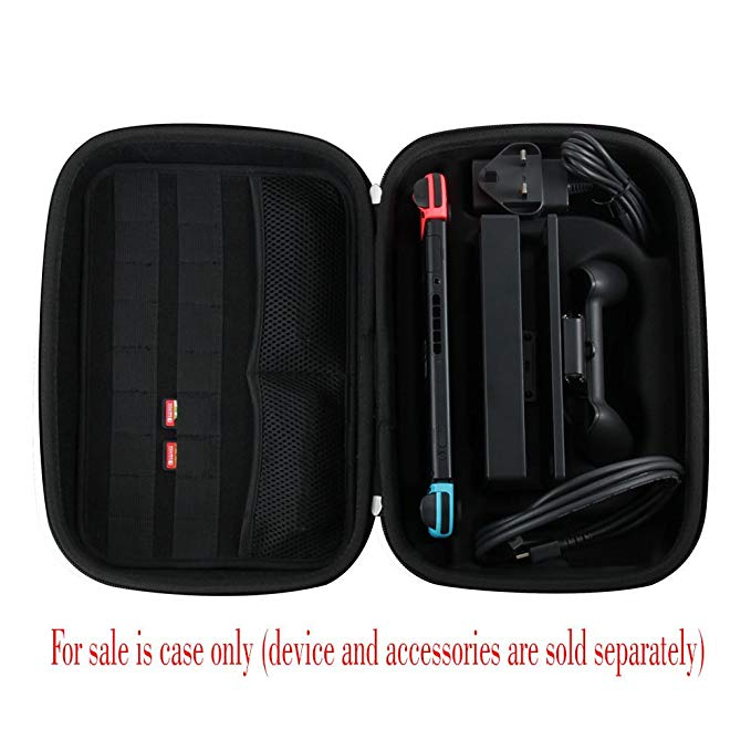 black eva hard case speaker case for switch-7