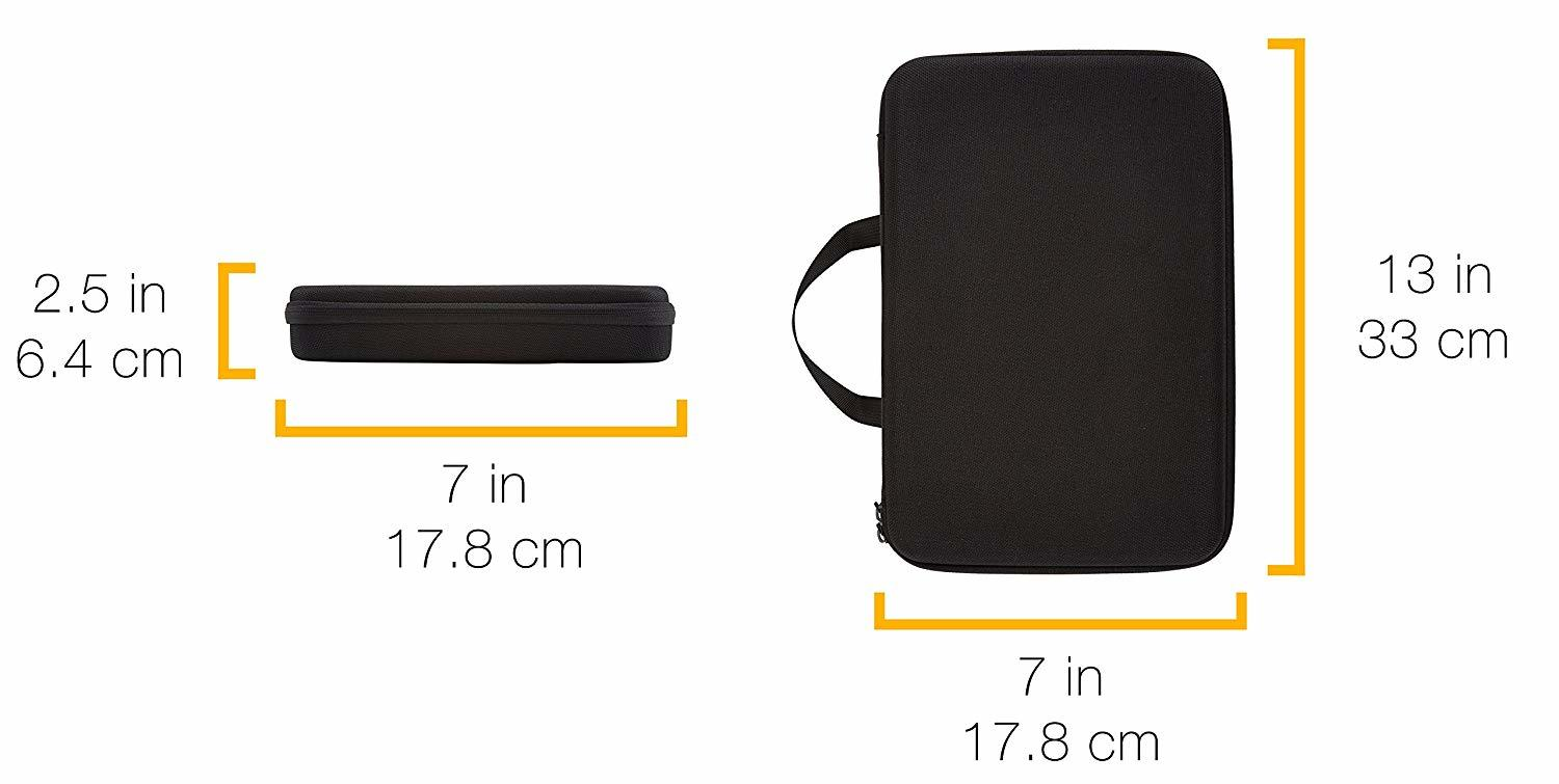 Large eva carrying   case for  2 gopro camera