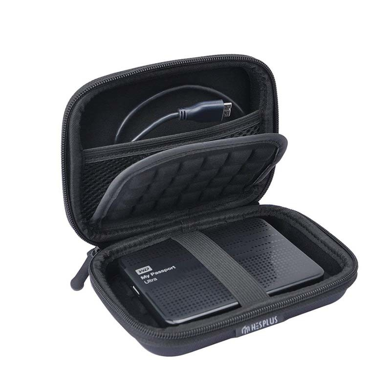 Portable eva hard shockproof disk  carrying case  with strap