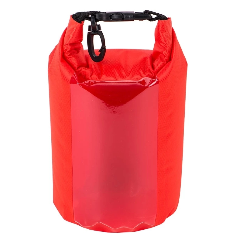 210t polyester light dry bag waterproof  with  transparent window