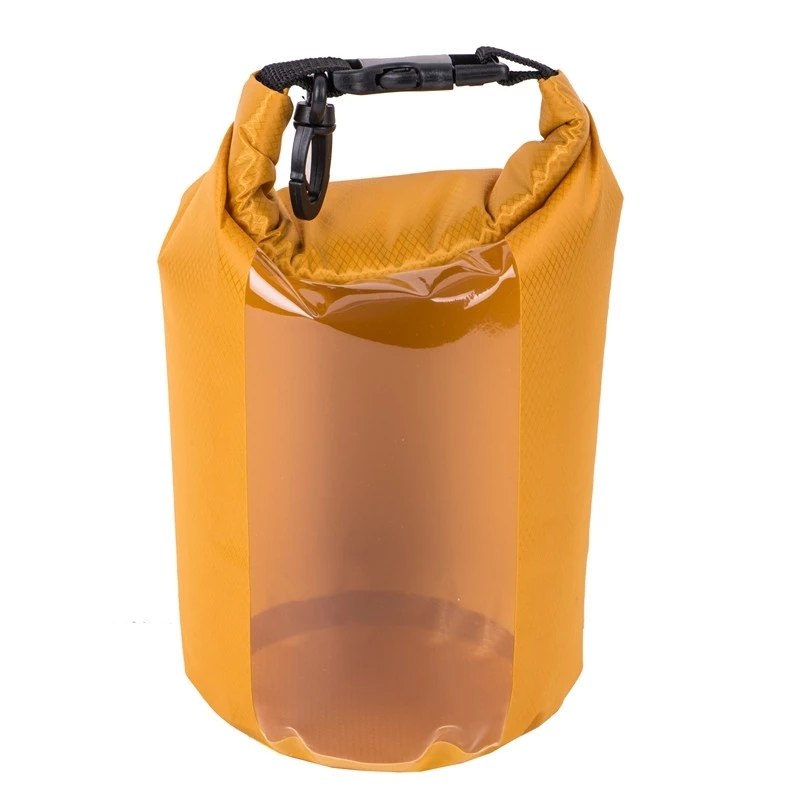 polyester dry bag with adjustable shoulder strap for boating