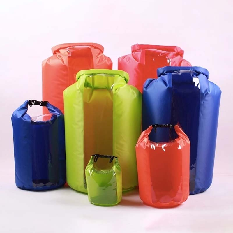 polyester dry bag with adjustable shoulder strap for boating-12