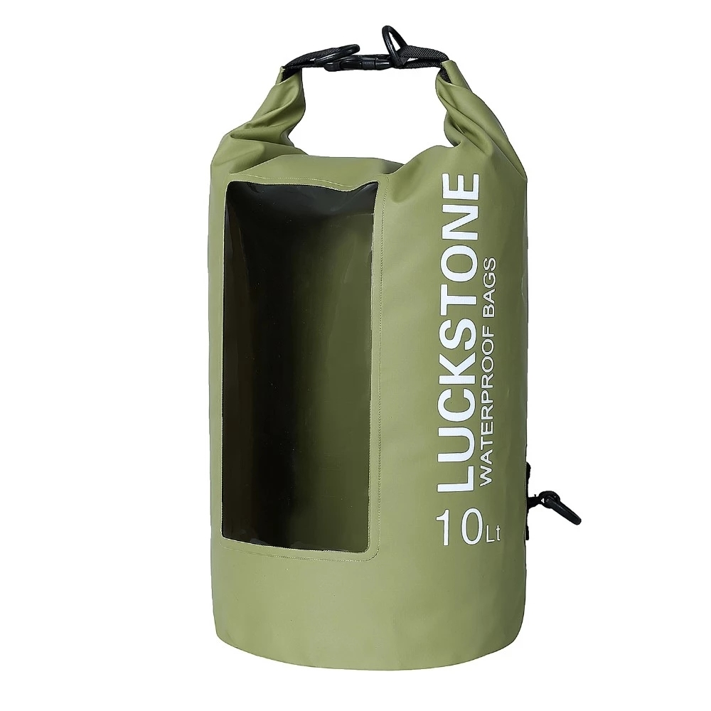 Prosperity dry bag with innovative transparent window design for kayaking
