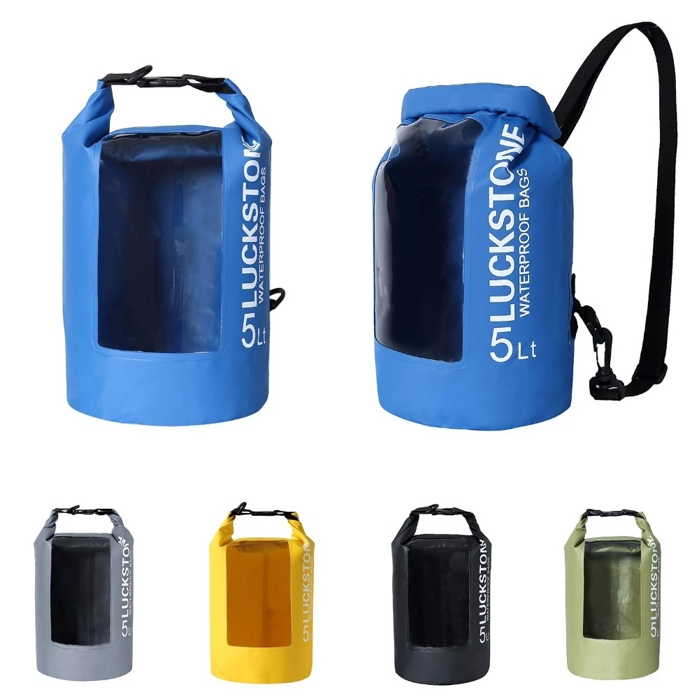 outdoor dry bag sizes with innovative transparent window design for fishing