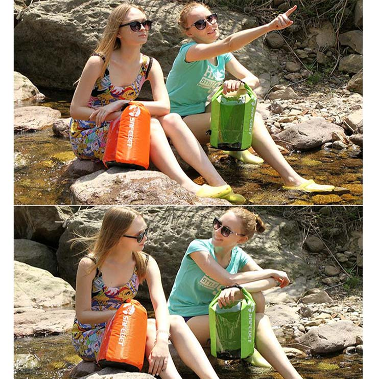 Prosperity best dry bag with innovative transparent window design open water swim buoy flotation device-8