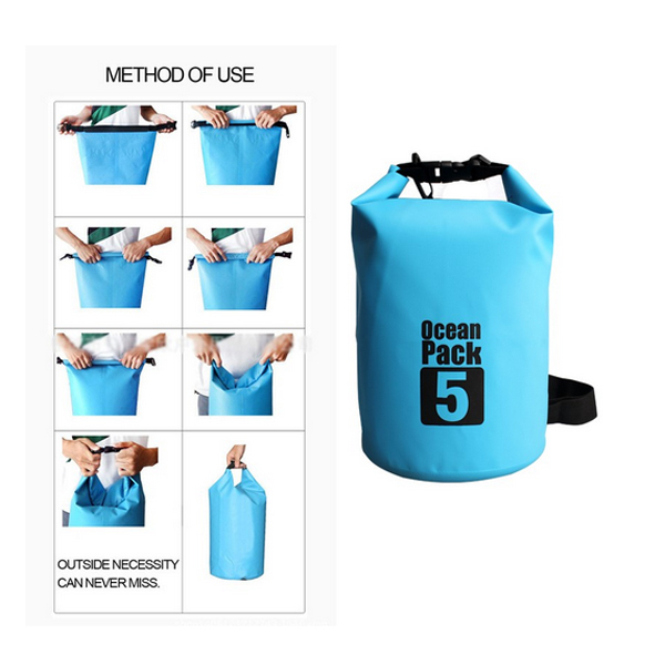 Outdoor waterproof sport dry bag with  shoulder strap
