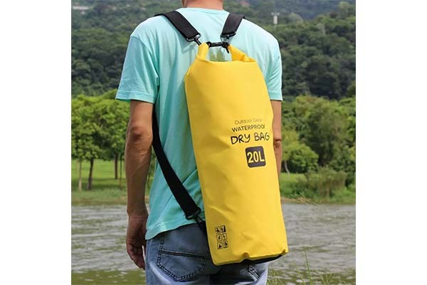 sport dry pack bag with innovative transparent window design for fishing