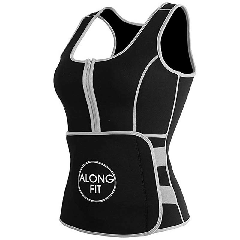 Neoprene vest suit with adjustable shaper waist trainer belt