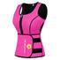 Neoprene vest suit with adjustable shaper waist trainer belt