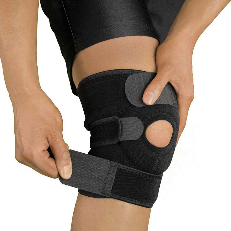 Wholesale sport neoprene adjustable knee support brace