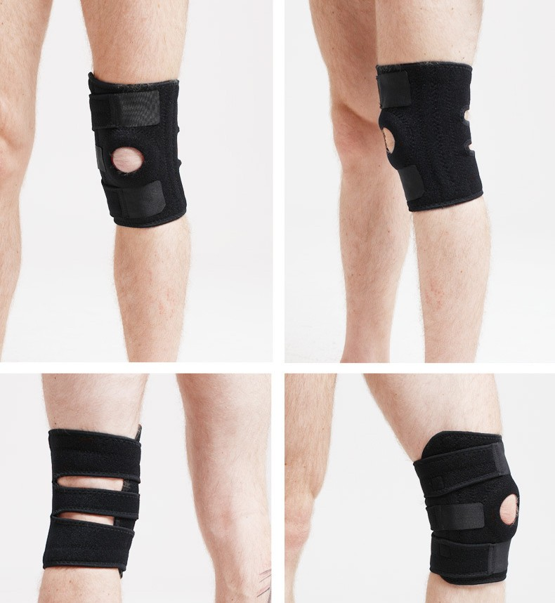 Wholesale sport neoprene adjustable knee support brace-9