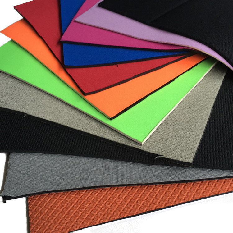 Prosperity elastic Neoprene fabric sponge rubber sheet for sport