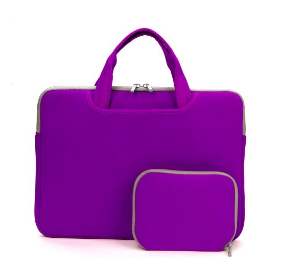 Neoprene laptop  handle sleeve   with accessories pocket