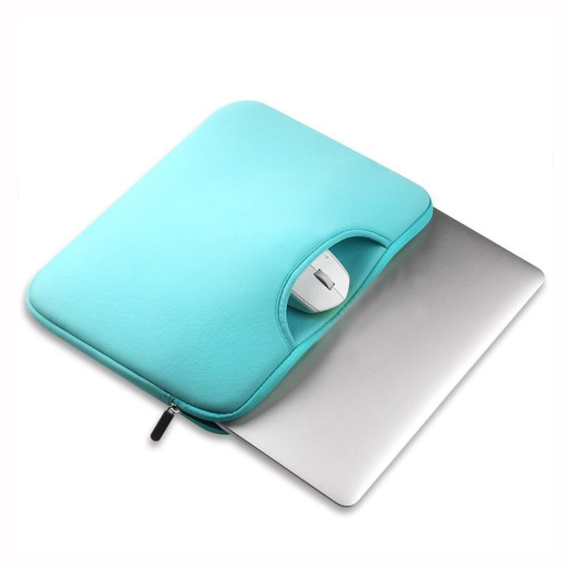Neoprene laptop  handle sleeve   with accessories pocket-4