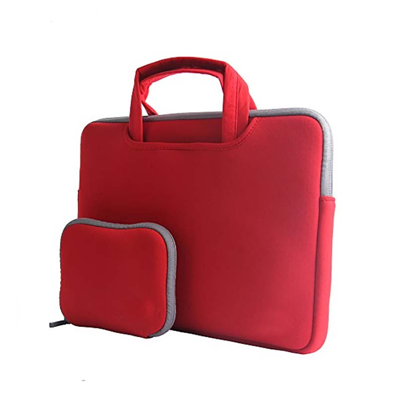Neoprene laptop  handle sleeve   with accessories pocket-12