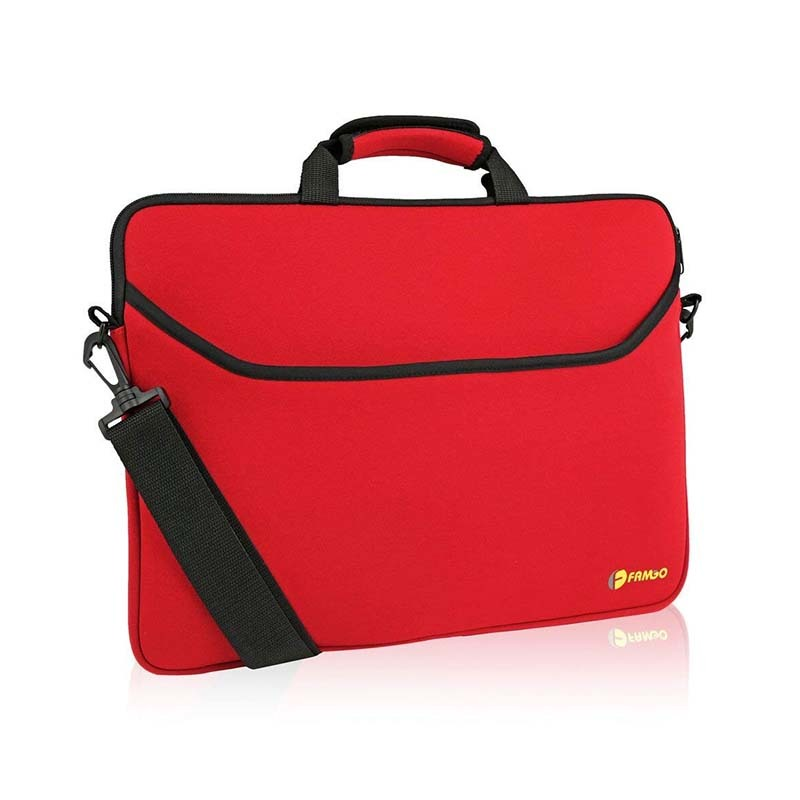 Computer neoprene sleeve carrying case bag with handle
