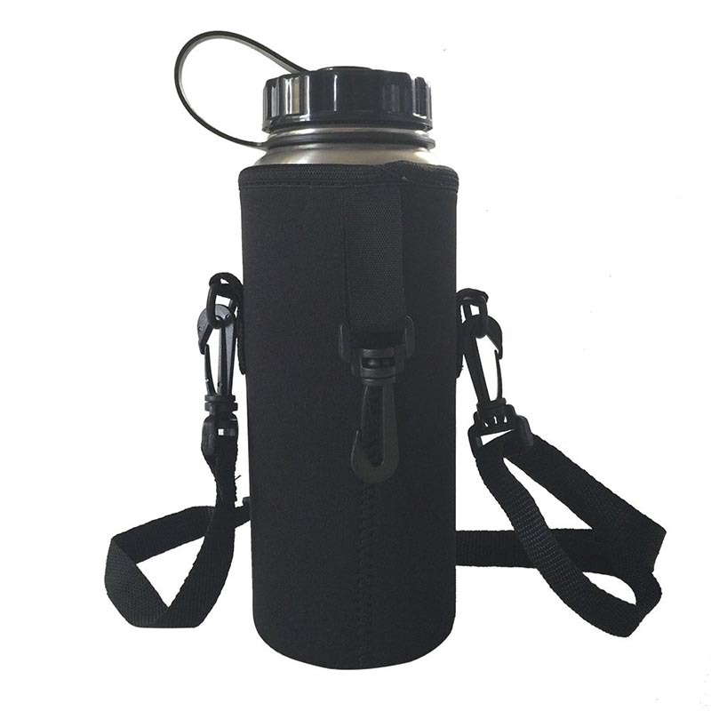 Neoprene water bottle holder keeps bottles protected