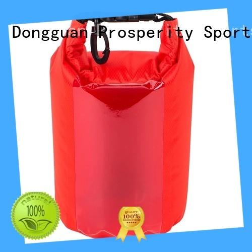 sport drybag with adjustable shoulder strap for boating
