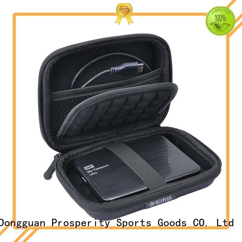 Prosperity black eva travel case fits for hard drive