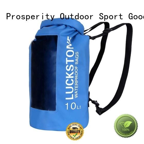 Prosperity heavy duty dry pack with adjustable shoulder strap open water swim buoy flotation device